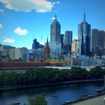 Our glorious Melbourne view from our river room