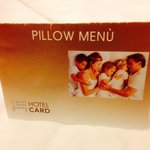 pillow menu