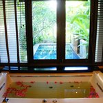 bathroom and private pool