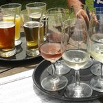 Beer tasting tray & wine tasting tray