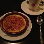 Crème brûlée & cappuccino. Delicious!