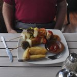 Special of the day- delicious seafood skewers