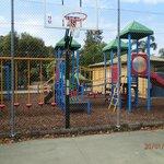 Playground from inside tennis court