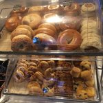 Bagels and pastries for breakfast