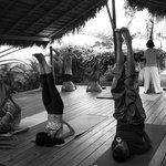 Yoga class with Tino