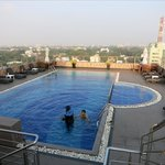 pool of pearl grand on rooftop