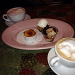 cappacino and creme brulee