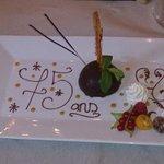 Dôme au chocolat spécial anniversaire !!