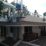Вид с балкона на White hotel из номера 204