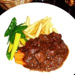 Beef & ale stew.  main course