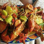 ginger fried crabs