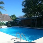 The pool and Yoga area at El Litoral