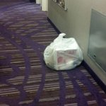garbage left in hall for two days
