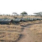 Vista sobre el campamento