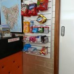 Snack and basic amenities sold at the Reception area