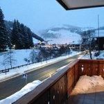 Blick vom Balkon zum Ortskern