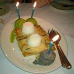The birthday desserts