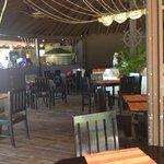Beach bar dining area