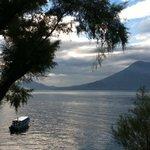 On a walk near Lee's home on Lake Atitlan