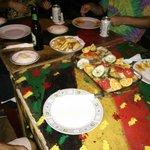 nice dinner together with hostal friends