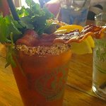 Outstanding Bloody Marys ... they even add bacon!