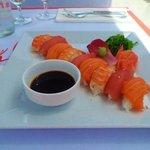 sushi on the beach