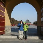 Jessie and my Dad at the Temple of Heaven