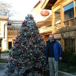 My dad in the central courtyard (Christmas time!)