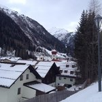 st Anton from above the Arlberg Hotel