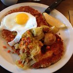Pork schnitzel - yummy!