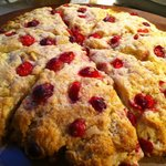 Scone of the day~ Cranberry Walnut!