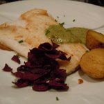Cod with  green sauce