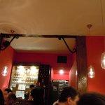 The restaurant room