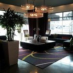 Lobby / Lounge Entrance of Hyatt House Charlotte the staff greets you with a smile