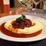 Hovězí líčka/ Rind mit Kartoffelnpüree
