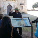 Phil telling us about the history of Mission San Jose