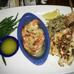 Lobster and prawns