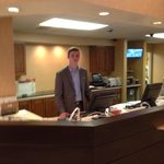 Ricky and partially complete front desk