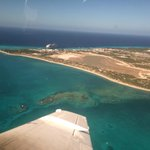 Grand Turk from the air - Bohio would be on the beach to the right.