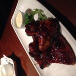 Barbecue chicken wings starter yum