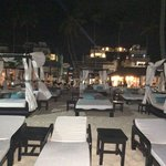 Beach evening time - view towards one of the restuarants