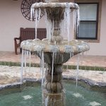 icicles on the fountain