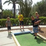 The crazy golf just round the corner