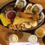 Captain seafood platter.