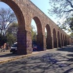 "Morelia's aqueduct next to the park ""el bosque"""