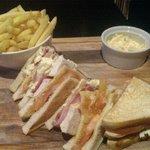 Club Sandwich from the bar