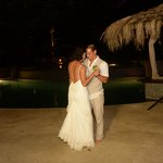First dance under the stars-poolside!