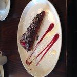 Bitter sweet chocolate with raspberry