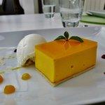 Mangomousse und Joghurtsorbet