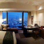 Suite e escritório com vista panorâmica de Tokyo.